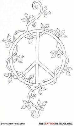 Gallery For Tye Dye Peace Symbol Tattoo