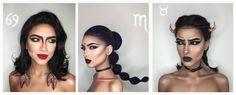 Nainen+loi+upeat+meikkilookit+jokaiselle+horoskooppimerkille+–+katso+kuvat