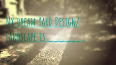 What is yours? Texas Landscaping, Yard Design, Neon Signs, Landscape, Patio Design, Scenery, Landscape Paintings, Landscape Designs, Garden Planning