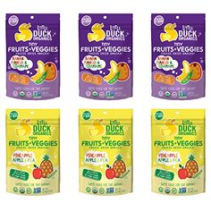 Little Duck Organics Tiny Fruits  Veggie Variety Pack 6 Count * Learn more by visiting the image link.