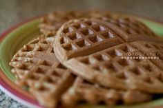 Gingerbread Waffles {recipe} - perfect for Christmas morning