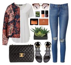 """""""238. The Sun Never Sets"""" by ass-sass-in ❤ liked on Polyvore featuring Paige Denim, H&M, Prada, Chanel, Yves Saint Laurent, NARS Cosmetics, Acne Studios, KEEP ME and Lux-Art Silks"""