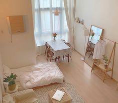 minimalist storage ideas for your small bedroom 20 ~ dreamapartment Small Room Bedroom, Home Bedroom, Bedroom Decor, Bedroom Ideas, Bedrooms, Apartment Interior, Room Interior, Interior Design, White Studio Apartment
