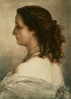 Titre de l'image : Franz Xaver Winterhalter - Eugenie, Impératrice des Français (Napoléon III )