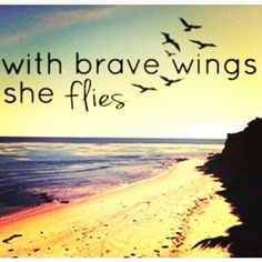 """I like it but rather it say """"she flies with her own wings"""""""