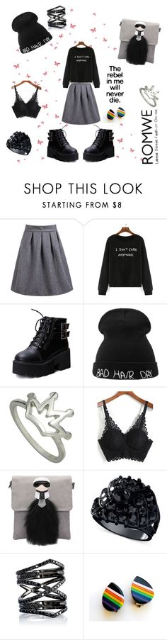 """""""Romwe"""" by allefale ❤ liked on Polyvore featuring moda, GUESS, Eva Fehren, women's clothing, women, female, woman, misses y juniors"""