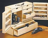 Rotary Tool Storage Case - Shopnotes #67, p.26