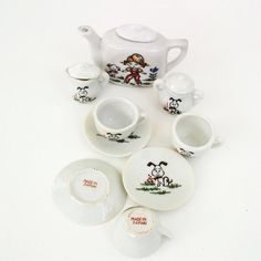 Toy Tea Set Childs Tea Set Made in Japan Tea Set