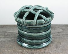 Lattice Flower Frog Vase - LaPella Pottery