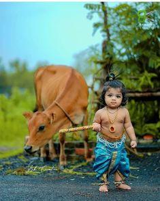 Bal Krishna, Lord Krishna Images, Radha Krishna Pictures, Radha Krishna Photo, Krishna Photos, Shree Krishna, Little Krishna, Cute Krishna, Baby Girl Photography