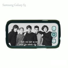 One direction--Samsung Galaxy S3 case,plastic white or black