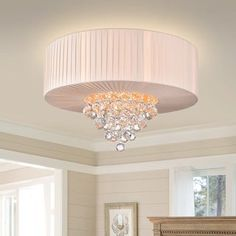 Shop for Vanilla Cake Crystal Chandelier. Get free delivery On EVERYTHING* Overstock - Your Online Ceiling Lighting Store! Get in rewards with Club O! Nursery Chandelier, Pink Chandelier, Globe Chandelier, Ceiling Fixtures, Light Fixtures, Ceiling Lights, Spiritual Decor, Traditional Interior, Handmade Home Decor