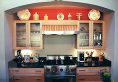 ProCraft Fine Cabinet and Woodwork Cool idea for a cooking area!
