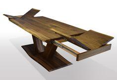 Baumtisch Wildnuss - Breite 80cm / Länge wählbar Unsere ausziehbaren Esstische sind zum einen hohwertig verarbeitet, als auchaus nur ausgesuchten Hölzern (A Qualität) hergestellt. Wir legen großen Wert auf die...