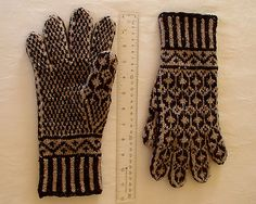 Ravelry: corvid's Sjømann Man's gloves  (NOT Sanquhar but falls into my visual pattern category for this)