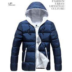 5c3d66eb378 Pánská moderní zimní bunda s kapucí MODRÁ – Sleva 70% a POŠTOVNÉ ZDARMA Na  tento