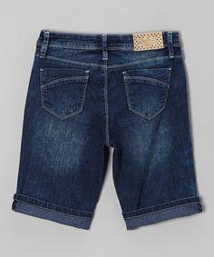This Medium Wash Bermuda Shorts - Girls by YMI is perfect! #zulilyfinds