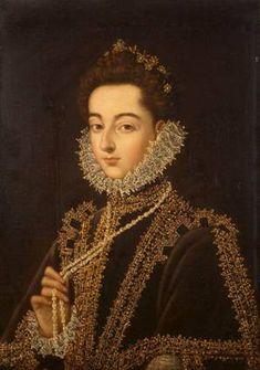 Infanta Catalina Micaela, ca. 1582-1585 (Alonso Sanchez Coello) (1531-1588) State Hermitage Museum, St. Petersburg