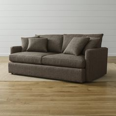 Get unlimited flat-fee furniture delivery. See how the Crate & Barrel lounge sofa looks in your home with our Room Designer. Crate And Barrel Sectional, Deep Couch, Long Sofa, Spanish Style Homes, Comfortable Sofa, Comfy Sofa, Living Furniture, Office Furniture, Sofa Design
