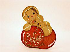 Sweet Cherries Item DPH126 Gingerbread Fridge Magnet