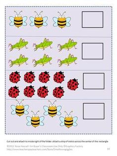 May Unit Printable Math & Reading File Folder Games PK-K o