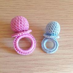 La piccola bottega della Creatività: Ciuccio amigurumi - tutorial uncinetto free crochet pattern