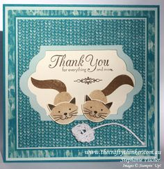 The Crafty Thinker: Stephanie Fischer - Independent Stampin' Up Demonstrator: Mischievous cats & a ball of string