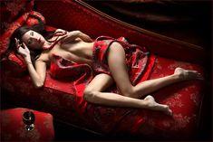Mujer sexy en rojo