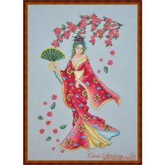 Sakura Blossom oriental cross stitch pattern by Cross Stitching Art