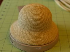 Free tutorial on how to make a straw doll's hat. It's for American Girl dolls, but the technique could be applied to any doll, with adjustments made to measurements.