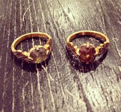 WHITE bIRD | Just received our new Leafside rings by Cathy Waterman: one-of-a-kind rustic gold and diamond rings available @ WHITE bIRD Jewellery.