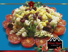 Ensalada de pasta con tomates cherry y virutas de jamón ibérico #MonteRegio ¡feliz sábado!