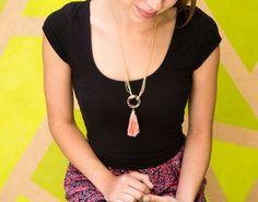 15-Minute DIY: Tassel Chain Necklace