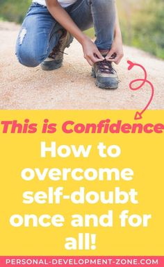 """Interested in learning how to overcome self-doubt once and for all? Discover """"This is Confidence"""", THE WAY to help you build a long-lasting self-confidence! There's nothing like this out there, check it out today! Self-Confidence 