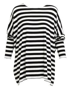 Oversized stripe top. Made in Australia.