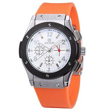 Men Watche Top Brand Luxury MEGIR Fashion Quartz Watch Chronograph 6 Hands Men Sports Silicone Wristwatches Relogio Masculino(China (Mainland))