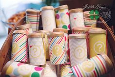 ADORABLE gender reveal Idea!!! CONFETTI POPPERS!!!!....... Fun if you don't mind a mess in your yard/house