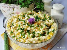 Ala piecze i gotuje: Sałatka z ryżu jajek i kukurydzy Mayonnaise, Polish Recipes, Pasta Salad, Quinoa, Risotto, Potato Salad, Salads, Ethnic Recipes, Food
