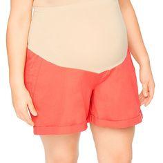 Plus Size Maternity Oh Baby by Motherhood™ Secret Fit Belly™ Cuffed Shorts, Women's, Size: