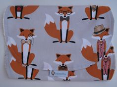 Baby Burp Cloth Fox Burp Cloth Baby Spit Up by RagamuffinsandCo