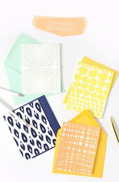 DIY Fabric Stationery Cards