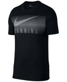 Nike Mens Dry Running T-Shirt Black - Men Running Shirts - Ideas of Men Running Shirts Dri Fit T Shirts, Boys T Shirts, Casual T Shirts, Free T Shirt Design, Tee Shirt Designs, Camisa Nike, Nike Running Shirt, Estilo Fitness, Billabong
