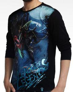 League of Legends Talon e Twisted Fate impresso camisas pretas de t para homens-