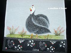 o melhor é fazer: Pintura de Galinha d'Angola