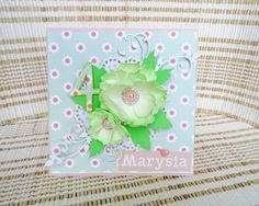 Handmade card with foamiran flower Tableware, Flowers, Cards, Handmade, Dinnerware, Hand Made, Dishes, Craft, Maps