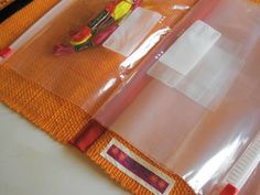 Craft supply carry all tote made with a placemat and ziplock bags - PURSES, BAGS, WALLETS