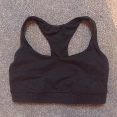 Basic Black Lululemon Sports Bra final! • great shape • no padding • great support • a good sports bra essential • no rips, holes, stains, or pilling lululemon athletica Tops Tank Tops
