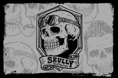 Skully illustration by Qiwbrother Studio on @creativemarket