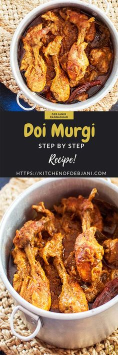 Bengali Doi Murgi aka Curd Chicken is a curd based Chicken Curry