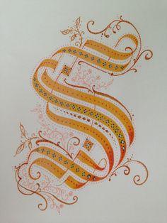 S ♥ ♥ lettering Calligraphy Letters, Typography Letters, Caligraphy, Penmanship, Font Alphabet, Handwriting Fonts, Script Fonts, Creative Lettering, Lettering Design